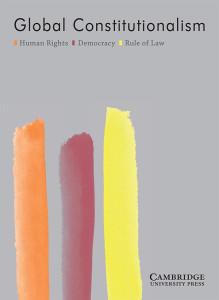 Advertising: Global Constitutionalism (Journal)