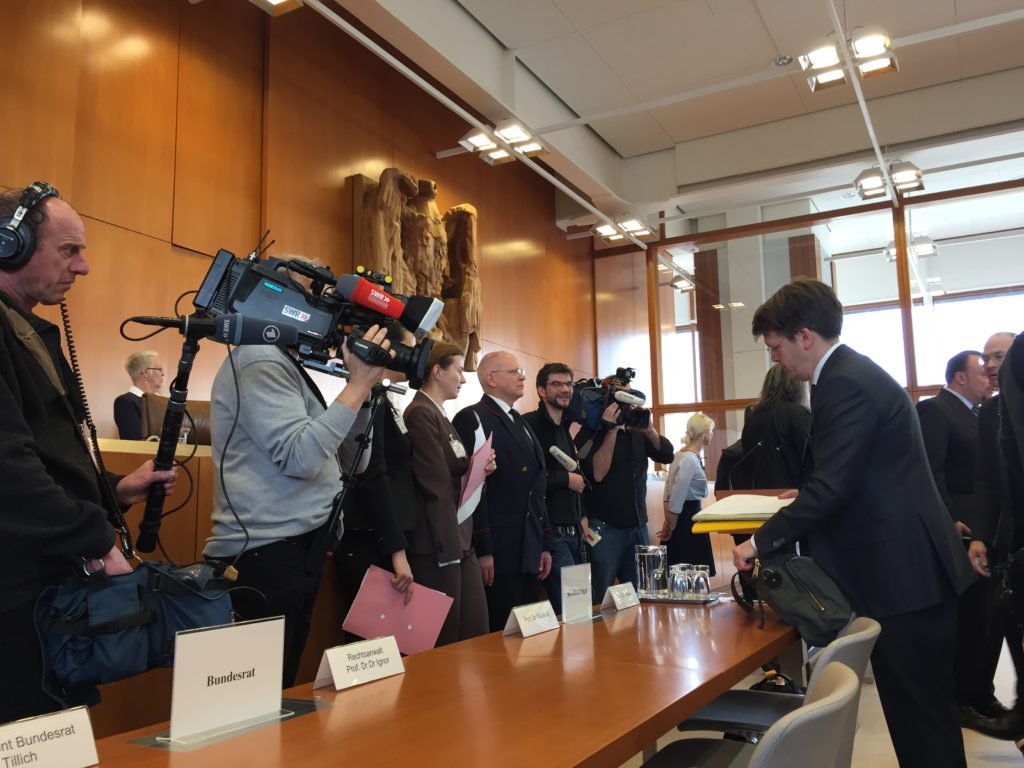 Prof. Christoph Möllers [right] Represented the Bundesrat before the Court